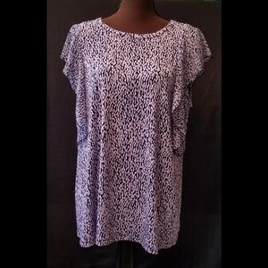 NEW Michael Michael Kors Spotted Tie Sleeve Blouse